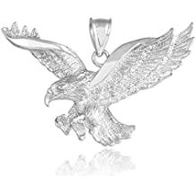 925 Sterling Silver Flying Eagle Pendant