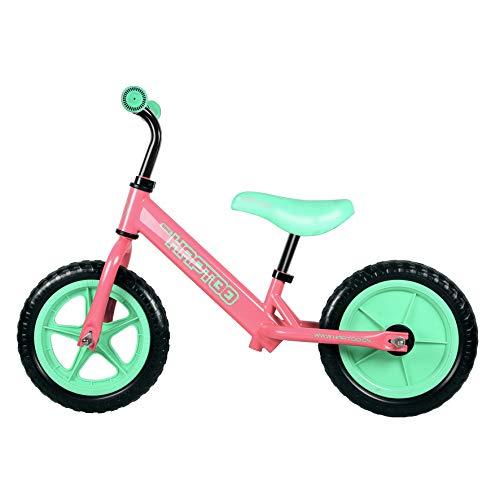 HAPTOO Toddler Bike No Pedal Kid Glide Balance Bike [Ages 1.5 2 3 4 5 Year Old] Adjustable Lightweight Walking Training Bicycle for Girls Boys - Pink/Green (Bike Inch 10 Balance)