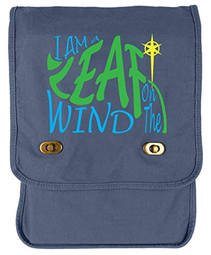 Tenacitee I am a Leaf on the Wind Blue Denim Canvas Field Bag -