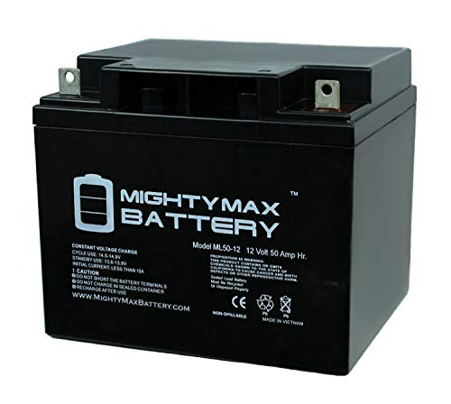 - Mighty Max Battery ML50-12 -12V 50AH SLA Replaces Kobe HV44-12 brand product