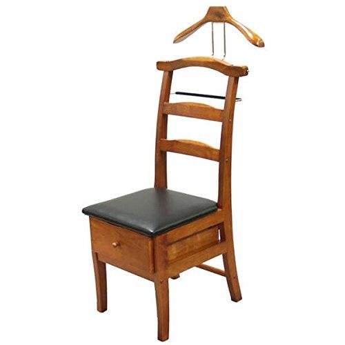 Executive Light Walnut Valet Chair Sturdy Hardwood Construction