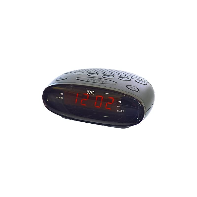 GOSO Digital FM Dual Alarm Clock Radio w