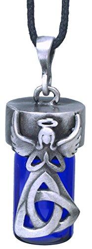 Pewter Anointing Bottle/Urn Locket (Trinity Angel)