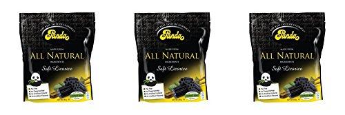 (3 PACK) - Panda Licorice Pieces - Resealable Bag | 240g | 3 PACK - SUPER SAVER - SAVE MONEY ()