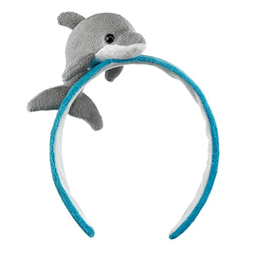Animal Hat Costumes (Dolphin Headband Costume Plush Stuffed Animal Head Band Hat Halloween)