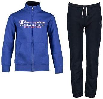 Champion Chándal Niño Full Zip Suit. 305097 B003. Azul/Marino. Talla 3/4 años: Amazon.es: Ropa y accesorios