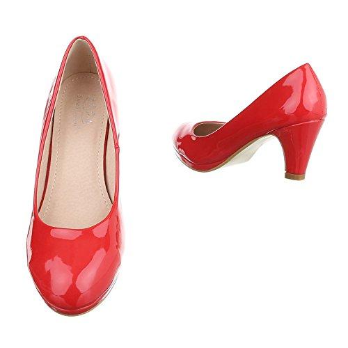 Ital-Design Women's Closed Red CNQ6RdZ