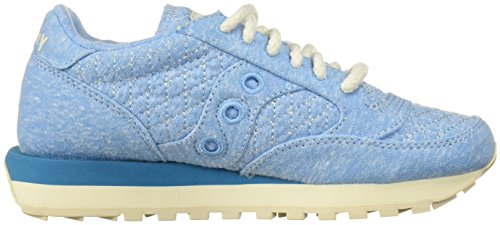 Sneakers Jazz Beige en Chaussures Blu Light Blue Daim Original Baskets Saucony Femme Rw71qUwx