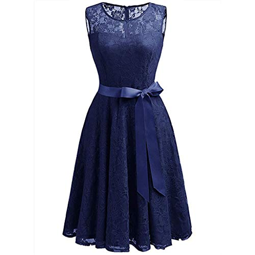 Lace Lungo Cocktail Women 2019 Abiti scuro Moda sera estate For blu elegante unita da Dress Slyar Vintage Tinta CwnvZqWwH5