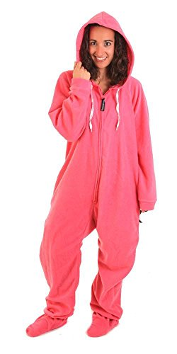 Forever Lazy Footed Adult Onesie - Really Pinkin Tired - XL