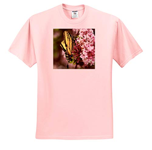 Stamp City - Nature - Photo of a Tiger Swallowtail Covered in Pollen from The Lilac Flowers. - T-Shirts - Light Pink Infant Lap-Shoulder Tee (18M) (ts_295291_71)