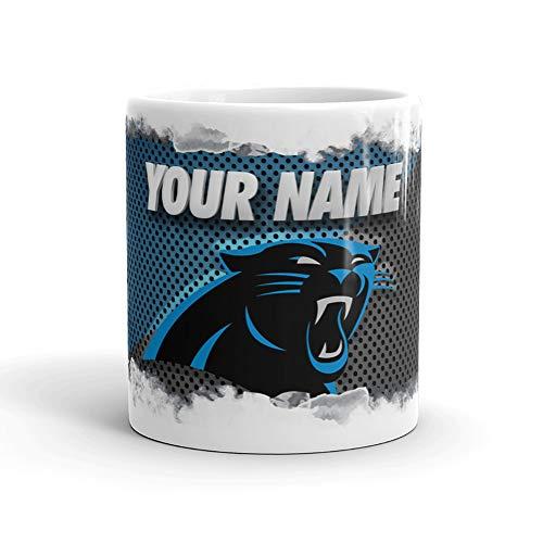 Carolina Panthers Color Blast Custom Personalized Name Football Coffee Mug Gift (11oz) -