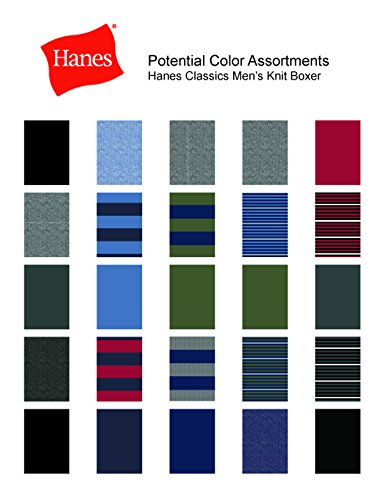 Hanes Men's 5-Pack Ultimate FreshIQ Dyed Exposed Waistband Knit Boxer with ComfortFlex Waistband - Assorted Colors