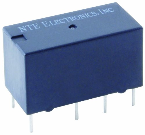 Sensitive Relay (NTE Electronics R40-11D2-12C Series R40 Sensitive Coil Single Contact PC Board Mount Epoxy Sealed Relay, Dual Coil, Latching Type, DPDT, 2 Amp, 12VDC)