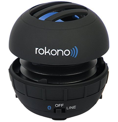 Rokono G10 BASS+ Best Mini Wireless Portable Bluetooth Speaker System - Compatible with Apple iPhones, iPads, Laptops & More for Indoor and Outdoor - Super Bass High Definition Sound - (Black Matte)