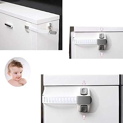 UPlama 2 PCS Baby Kids Multi-Function Cabinet Fridge Lock