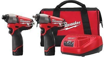 "Milwaukee M12 FUEL 2-Tool Combo Kit 3/8"" Impact Wrench 1/4"""