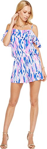Lilly Pulitzer Women's Klea Romper Amethyst One Too Many Jumpsuit by Lilly Pulitzer