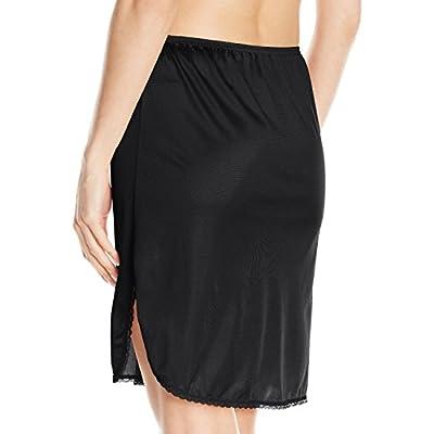 Vassarette Women's Tailored Anti-Static Half Slip 11122, Black Sable-20 Inch, Medium