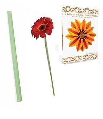 """Gerbera Daisy Flower Arranging Tubes Sleeves 3/8"""" x 8"""" Plus Flower Crafting Tools eBook Bundle"""