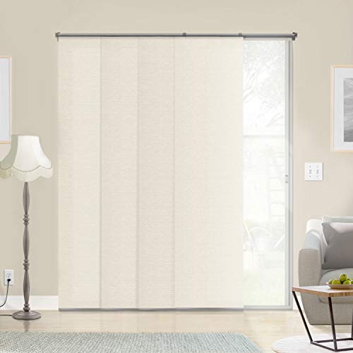 (Chicology Adjustable Sliding Panels, Cut to Length Vertical Blinds, Abaca Alabaster (Natural Woven) - Up to 80
