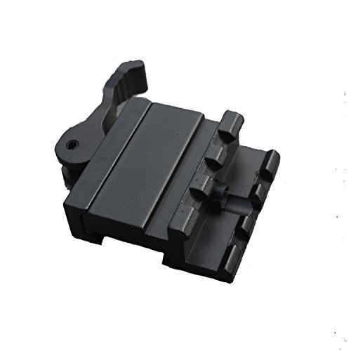 LVLING 45 degrees LE Rated 3-Slot Single Rail Angle Mount with Integral QD Lever Lock System (Police Grade Pa System)