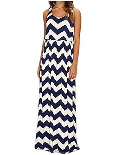 Womens Maxi Boho Summer Long Skirt Evening Cocktail Party Dress - 2
