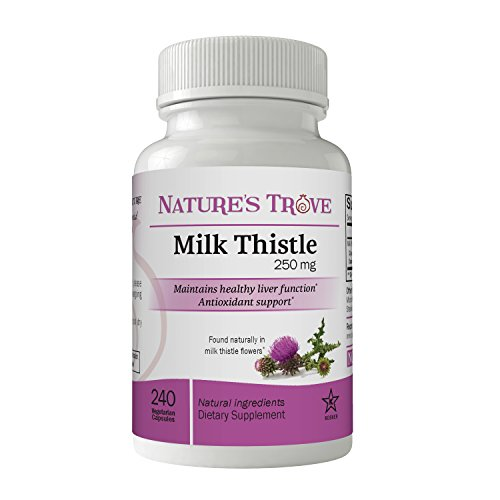 Milk Thistle 250 mg by Nature's Trove - 240 Vegetarian Capsules