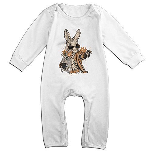 Raymond Smith The Rabbit Long Sleeve Baby Climbing Clothes White 24 Months