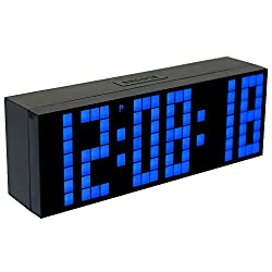 CHIHAI Remote control Digital LED Alarm Clock with Calendar/Countdown/Count up/Thermometer/Cycle Display/Multiple Alarm/Brightness Control/Silent for Bedroom/Home decor/Office(blue)