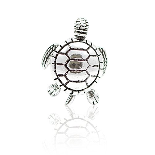 Blue Apple Co. Movable Turtle Plain Band Ring 925 Sterling Silver