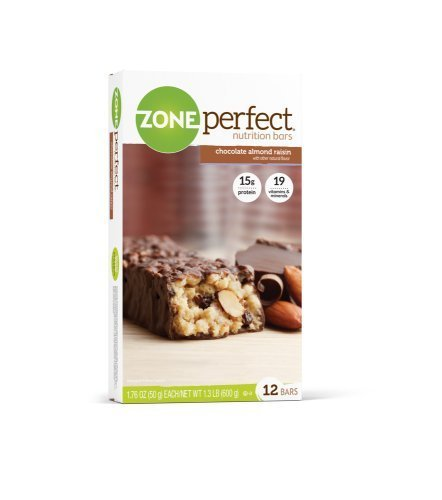 Zone Perfect All Natural Nutrition Bar, Chocolate Almond Raisin, 1.76-Ounce Bars in 12-Count Boxes by Zone Perfect