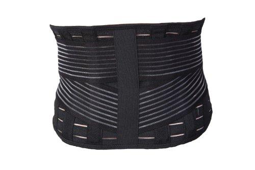 Incrediwear Low Back Brace (Black, X-Large) Heat Seeking Iron