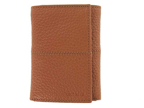 Cole Haan Mens Wallets - Cole Haan Trifold Men's Wallet Brown Leather
