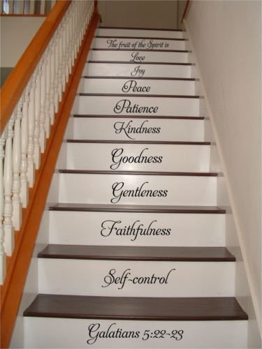 chengdar732 Fruit of the Spirit Large Stairs Vinyl Sticker Decor Gift Decal Stickers lettering Fancy font