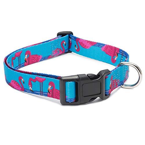 Dog Karma Animal Bug Themed Collar (Flamingo, Small)