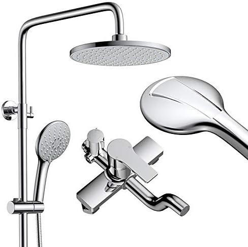 すべての銅は、加圧されたシャワーヘッドセット、シャワーハンドシャワーヘッドシャワーヘッド加圧さシャワーヘッド9インチの大型トップスプレーつのキーの3つの制御を蛇口
