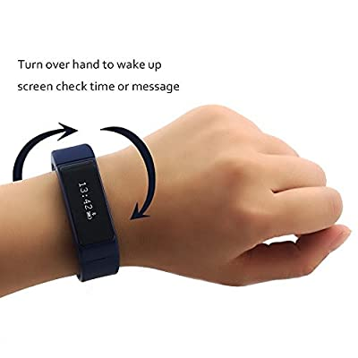 XENCEN I5 Plus Smart Wristband Bracelet Bluetooth 4.0 with Sleep Tracker Health Fitness for Android IOS iPhone Samsung Intelligent Sports Watch Step Sleep Track Caller ID display