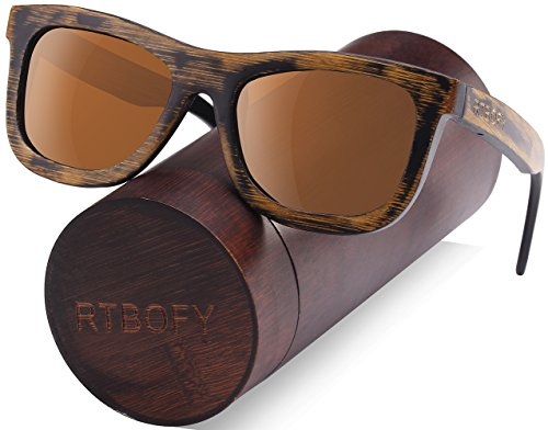 Wood Polarized Sunglasses Wayfarer Style - 100% UV - Protection How Sunglasses To Test For Uv