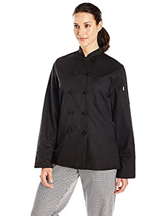 Uncommon Threads Women's Sedona Fit Chef Coat, Black, X-Small