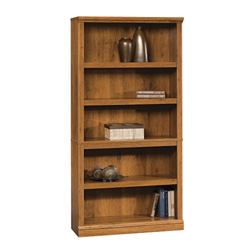 5 Mission Bookcase Oak Shelves - Five Shelf Bookcase in Abbey Oak Finish