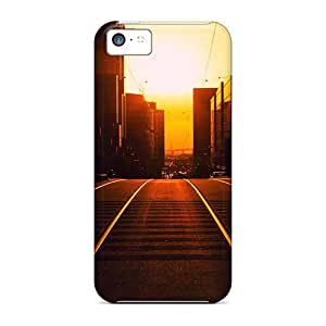 Slim Fit Tpu Protector Shock Absorbent Bumper Sunset Wallpaper Case For Iphone 5c