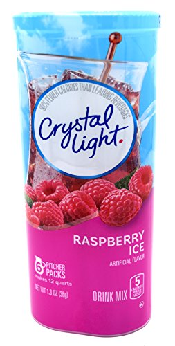 Crystal Light Raspberry Ice Drink Mix, 12-Quart Canister (Pack of 5) by Crystal Light