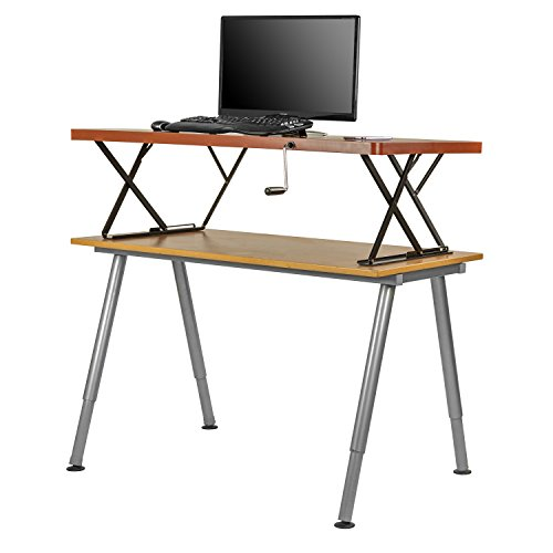 Halter Manual Adjustable Height Table Top Sit / Stand Desk (Cherry) by Halter (Image #5)