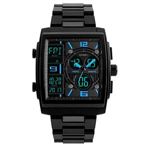 Yemenger Men's Military Rubber Tactical LED Digital Watch Sports Waterproof Analog Quartz Watch ()