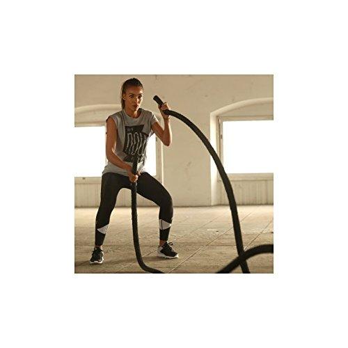 LivePro PREMIUM BATTLE ROPE 12.4kg, 1.5 x50' Rope Battle Rope Übungen Cross Training Workout Stärke Fitness Stiefel Camp