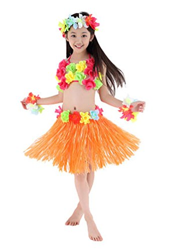 Tahitian Hula Costume (Fighting to Achieve Hawaiian Hula Dance Costume 5pcs For Girls)