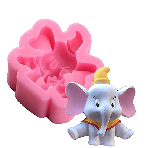 3D Lovely Elephant Candle Molds Silicone Soap Making Molud Candle Resin Mould Fondant Cake Decorating Tools Chocolate Candy Baking Molds Cake Topper Decoration Mould Aromatherapy Gypsum Molds
