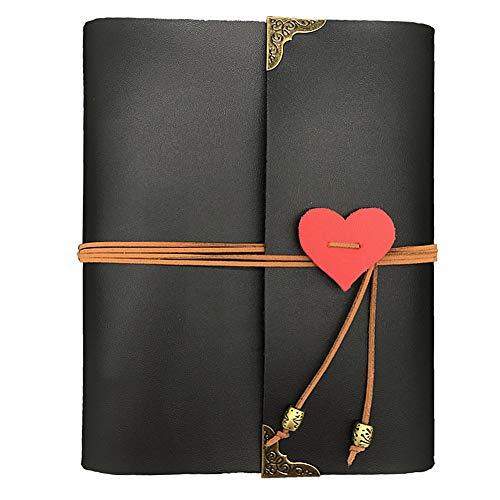GLIN Photo Album, Leather Photo Scrapbook Memory Book Hand Made DIY Albums with 34 - Photo Halloween Albums