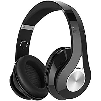 Mpow 059 Bluetooth Headphones Over Ear, Hi-Fi Stereo Wireless Headset, Foldable, Soft Memory-Protein Earmuffs, w/Built-in Mic and Wired Mode for PC/Cell Phones/TV